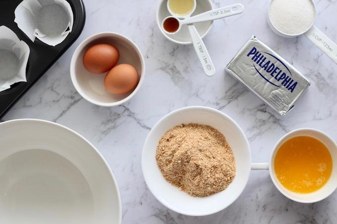 Mini Baked Cheesecake Ingredients