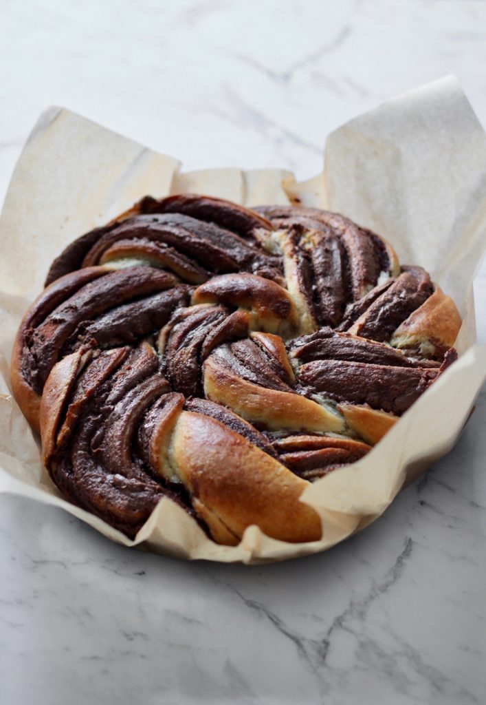 Golden Brown Nutella Swirl Bread