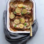 Lemon Garlic Chicken Potato Bake